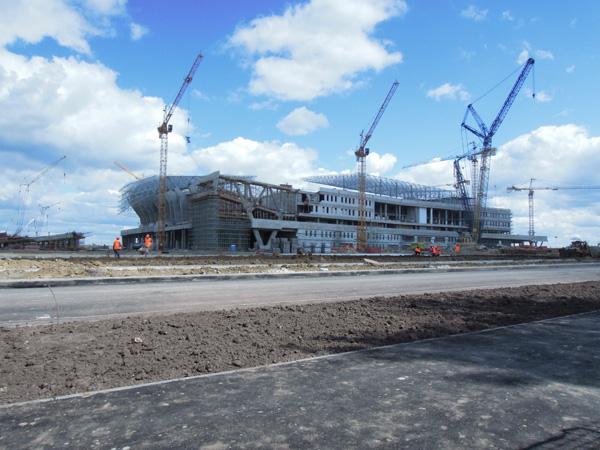 2011年6月底時未完工的Lviv Arena